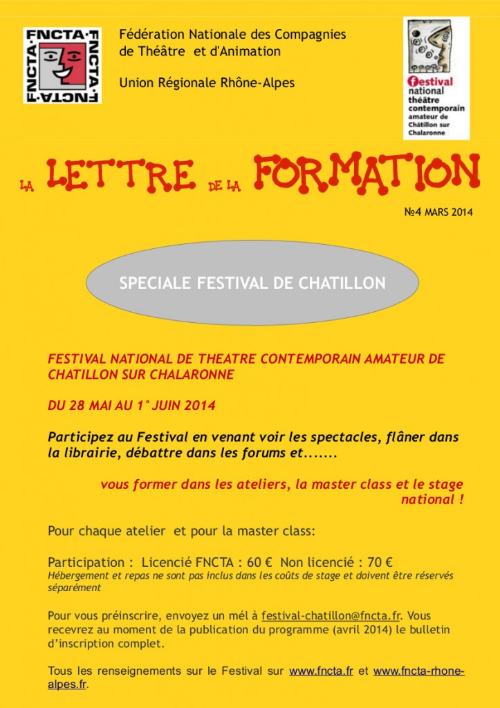 LETTRE FORMATION 04 SPECIALE CHATILLON 1