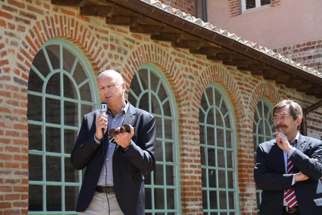Patrick Schoenstein, Président national Fncta et Yves Clayette, Maire de Châtillon sur Chalaronne