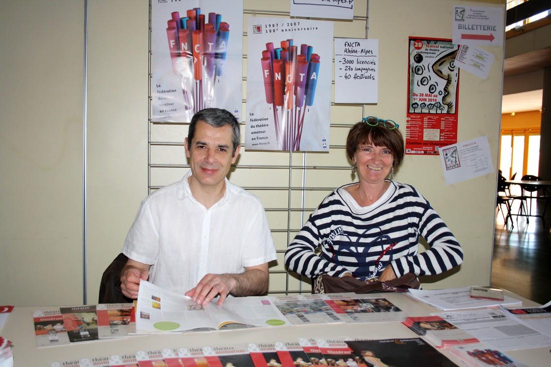 Bernard et Marie-Christine. Stand Fncta et site web fncta-auvergne-rhone-alpes.fr