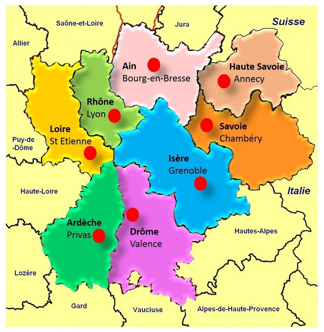 Comités Départementaux Fncta Auvergne Rhône Alpes
