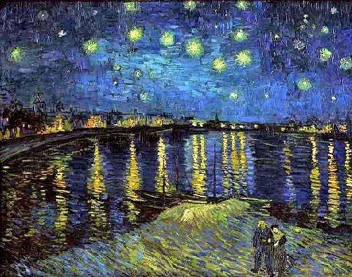 Van Gogh - La nuit étoilée sur le Rhône
