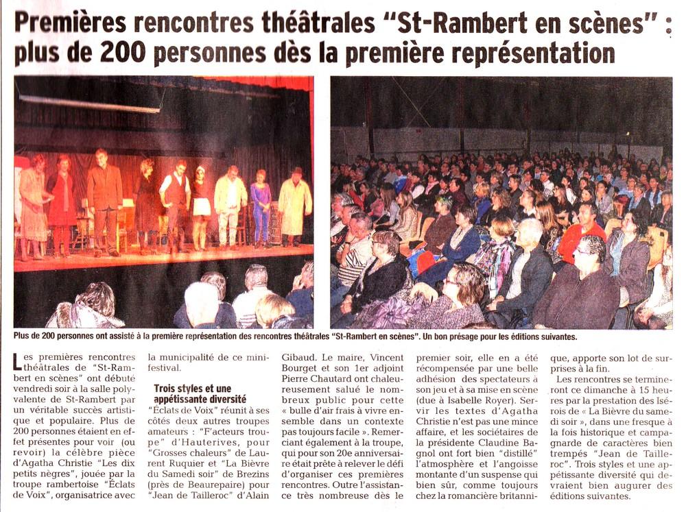 Festival St Rambert Janvier 2016-Article de presse-A
