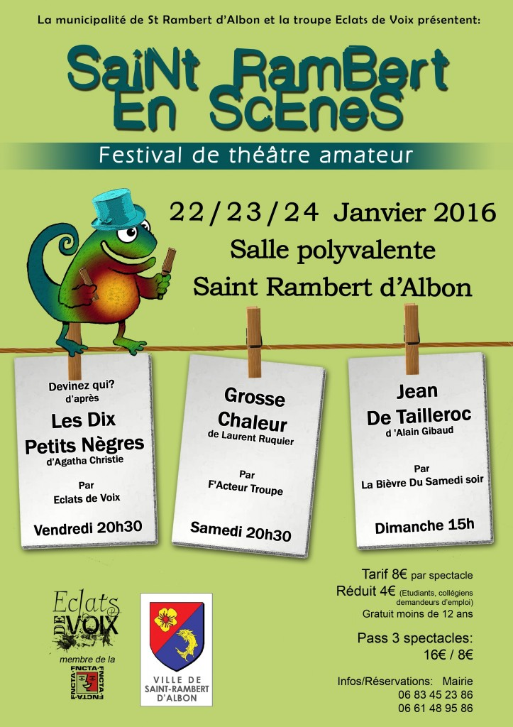 Saint-Rambert en Scènes-Festival 2016