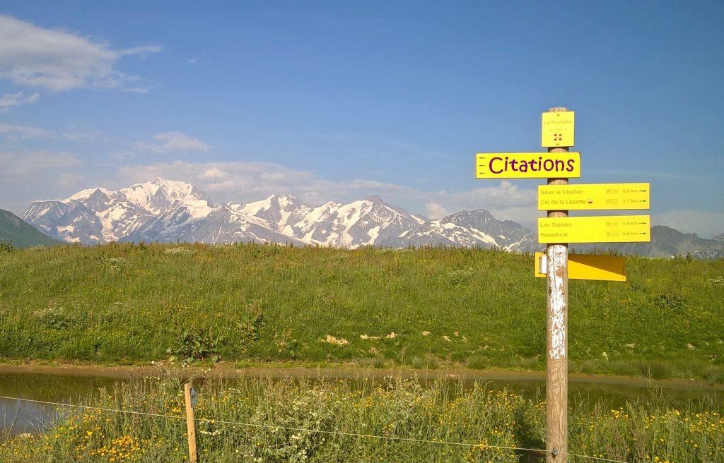 Le Mont Blanc vu des Saisies