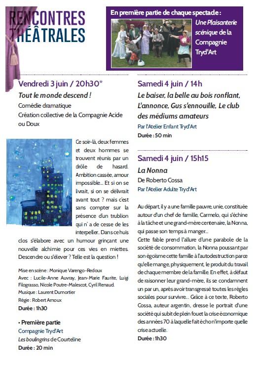 Rencontres théâtrales romanaises-2016--Programme p1