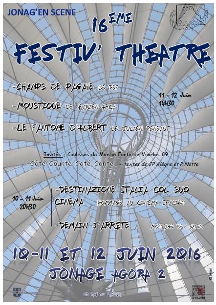 Festiv' Théâtre Jonage 2016