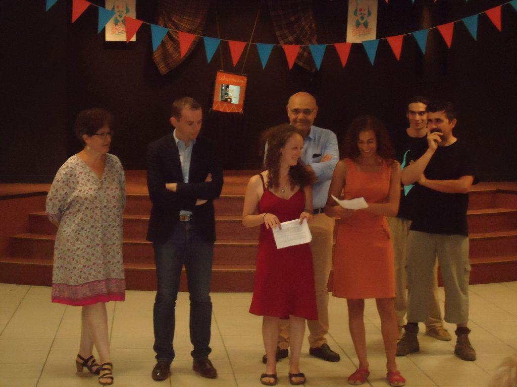 Pauline Berto et l'équipe d'organisation du festival