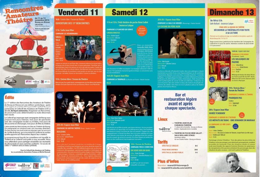 Rencontres Bourg en Bresse 2016 Programme