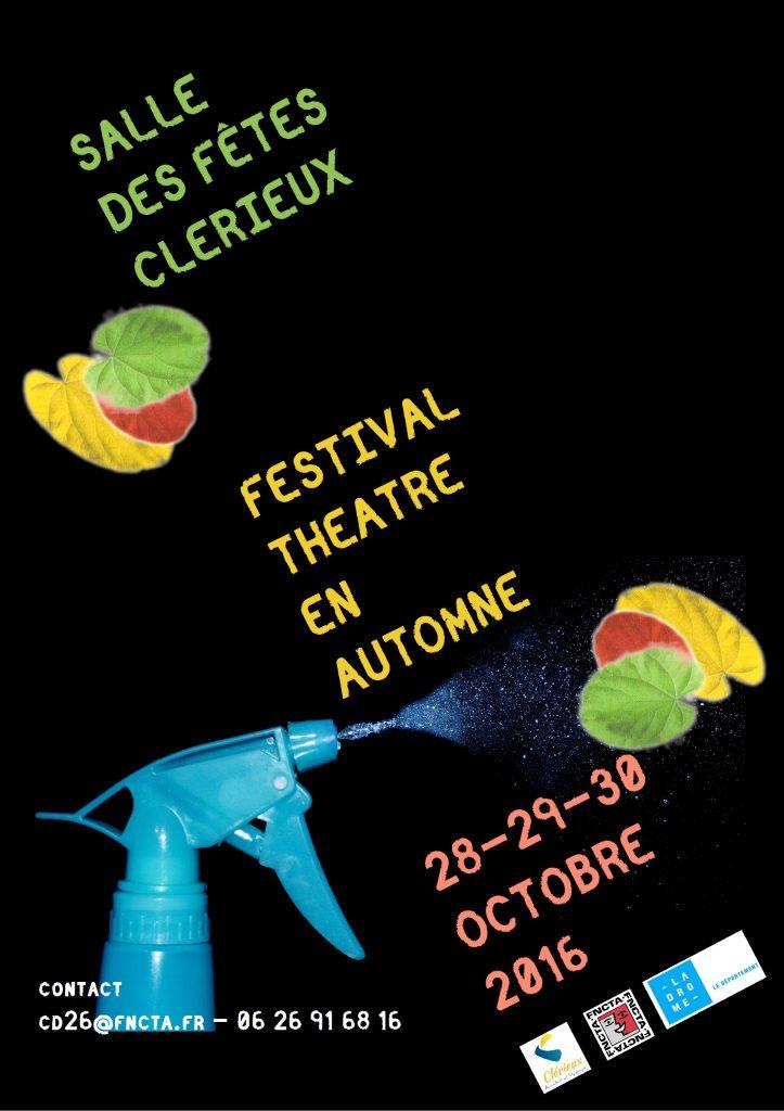 Festival Théâtre en Automne 2016 Affiche