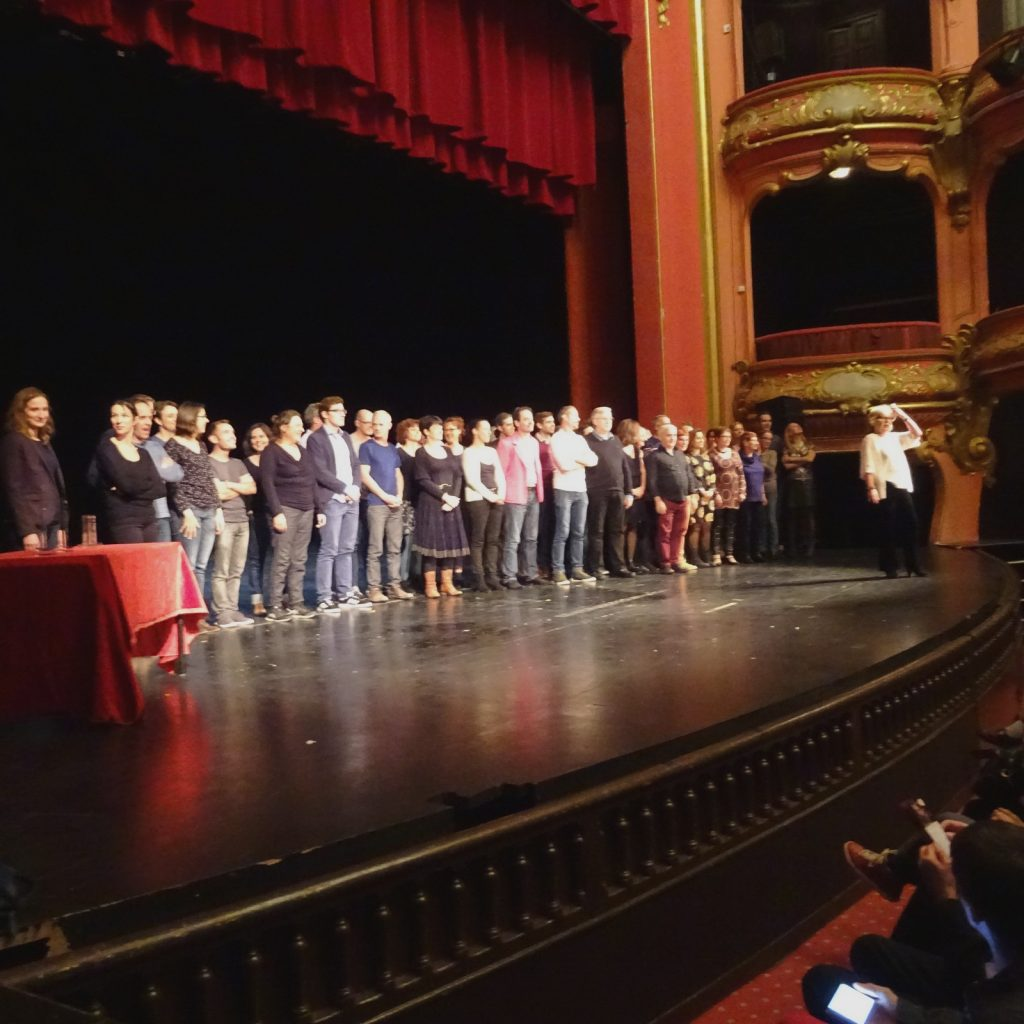 Tous les comédiens. Photo Dieppedalle