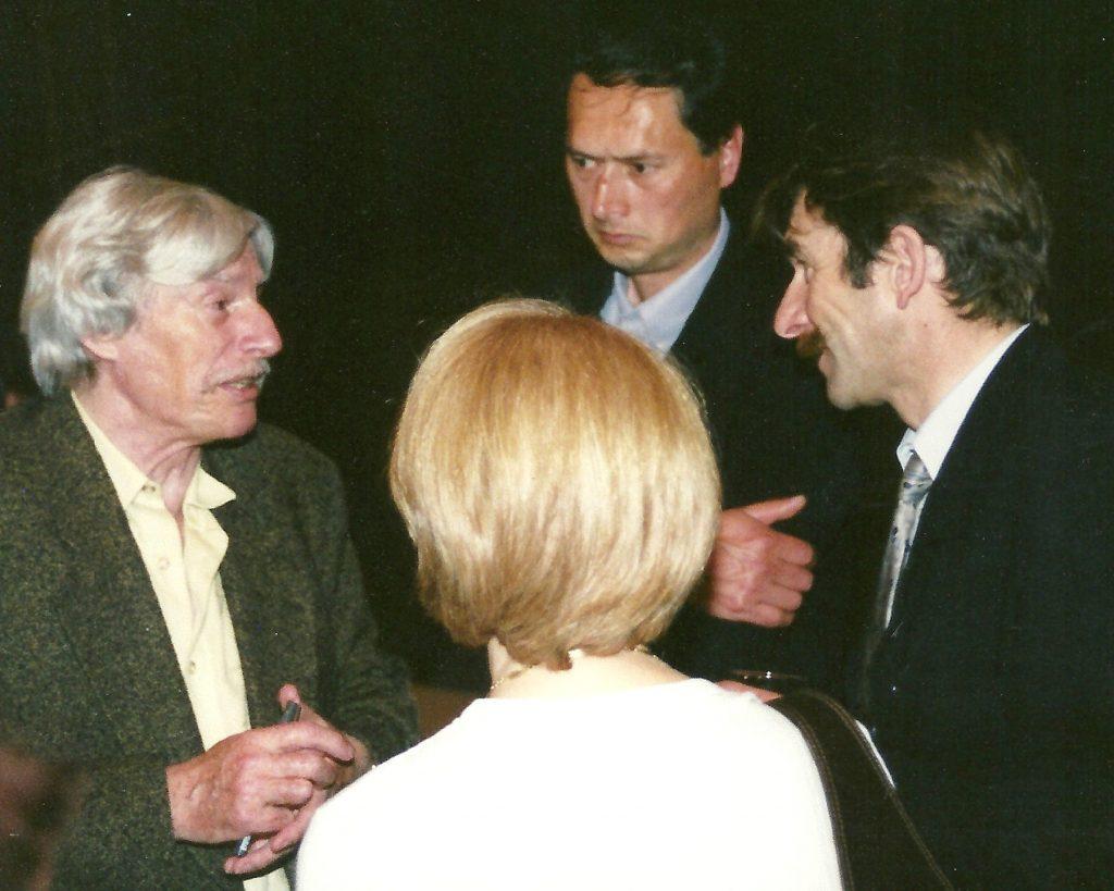 Yves Clayette et Jean Ferrat en 2001
