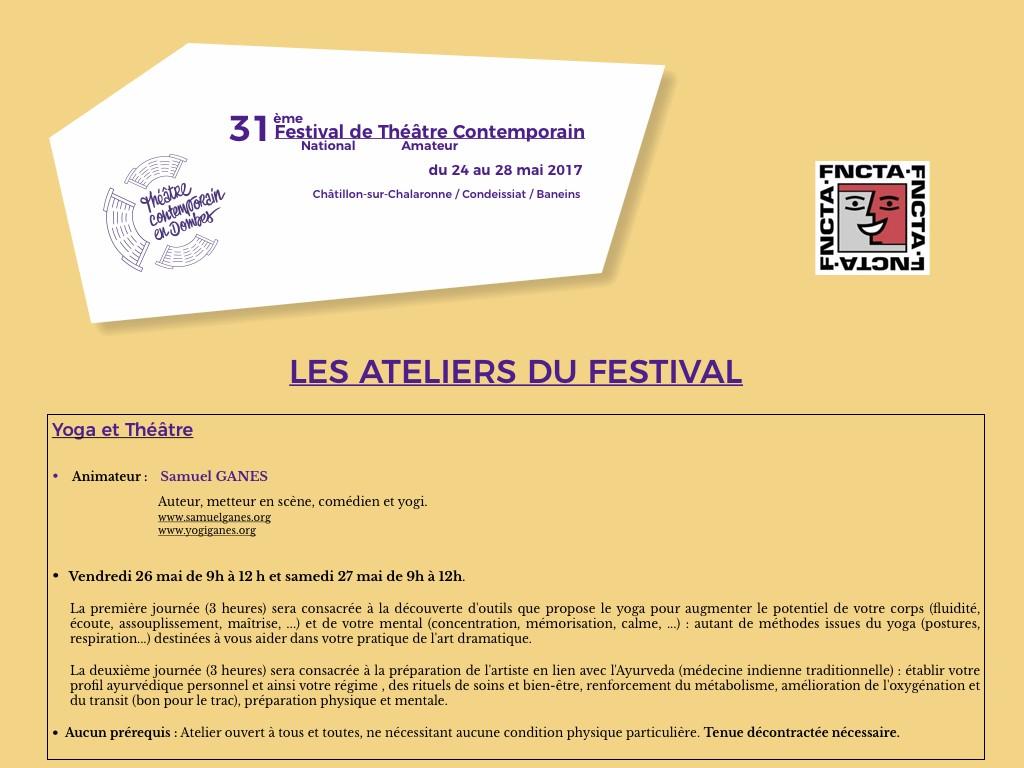 FESTIVAL CHATILLON 2017 - ATELIER YOGA & THEATRE