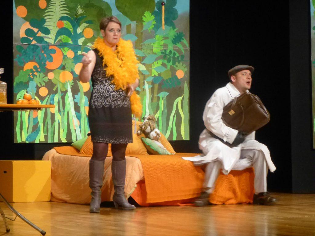 Théâtre du Graal. Marie-Pierre Jandeau dans La chambre Mandarine. de Robert Thomas. 2015.