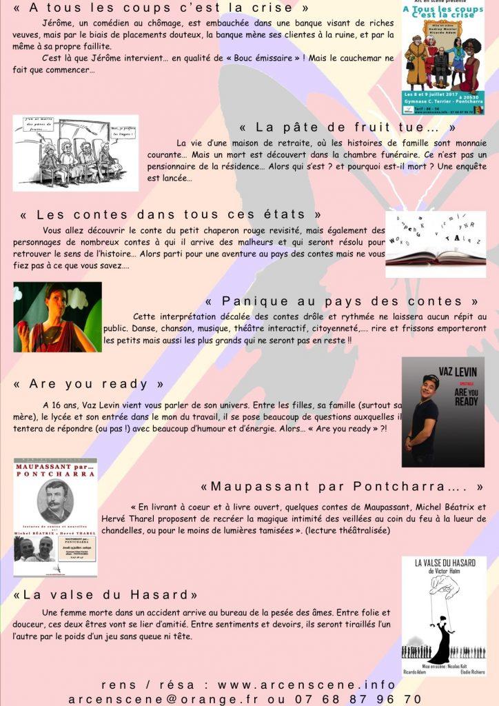 ARC EN SCENE FAIT SON FESTIVAL 2017-B-Programme