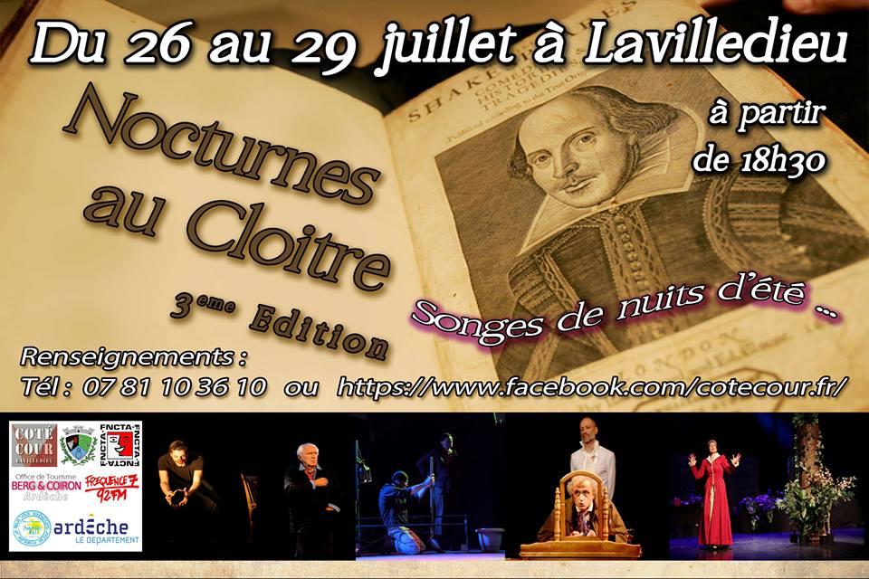 Côté cour Affiche nocturnes 2017