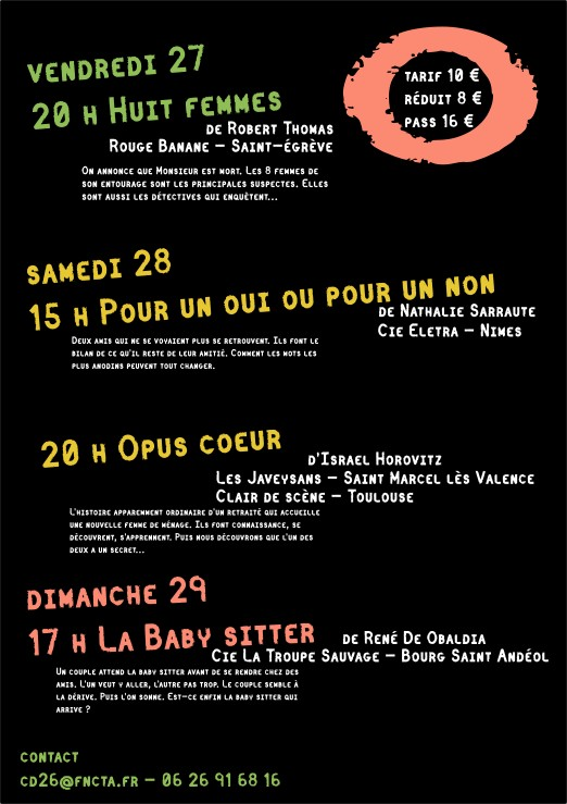 Festival THEATRE EN AUTOMNE 2017 Programme
