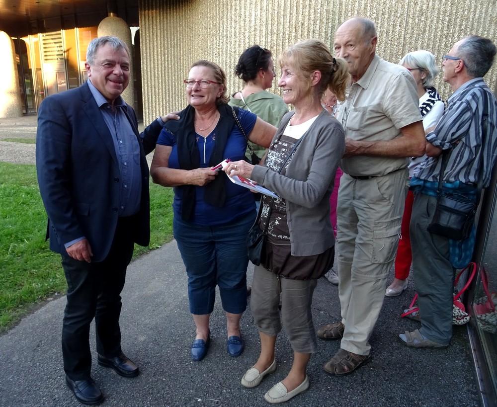 Jean-Paul Alègre et le public