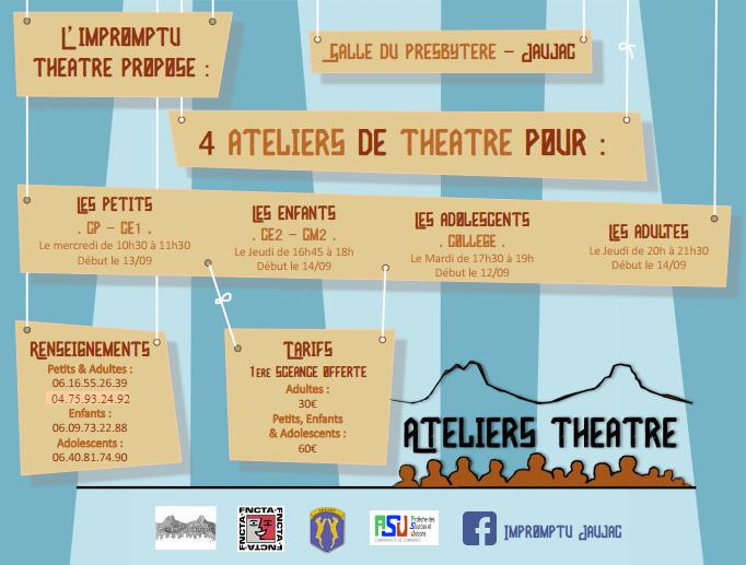 ateliers théâtre