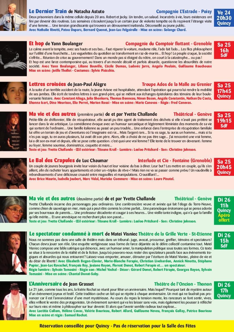 FESTIVAL DE QUINCY Programme 2017