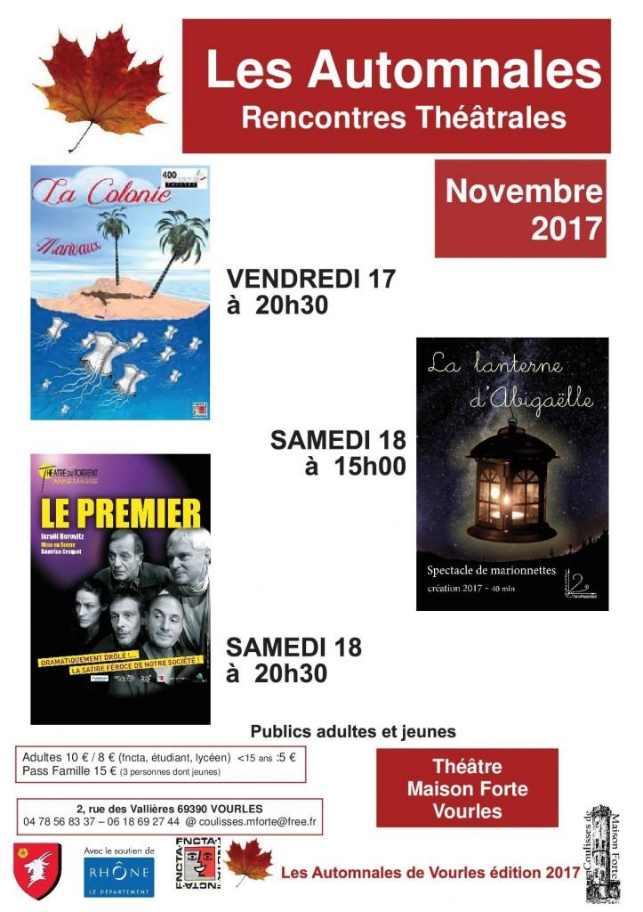AUTOMNALES DE VOURLES-Affiche-programme1-1-au 10 11 17-B