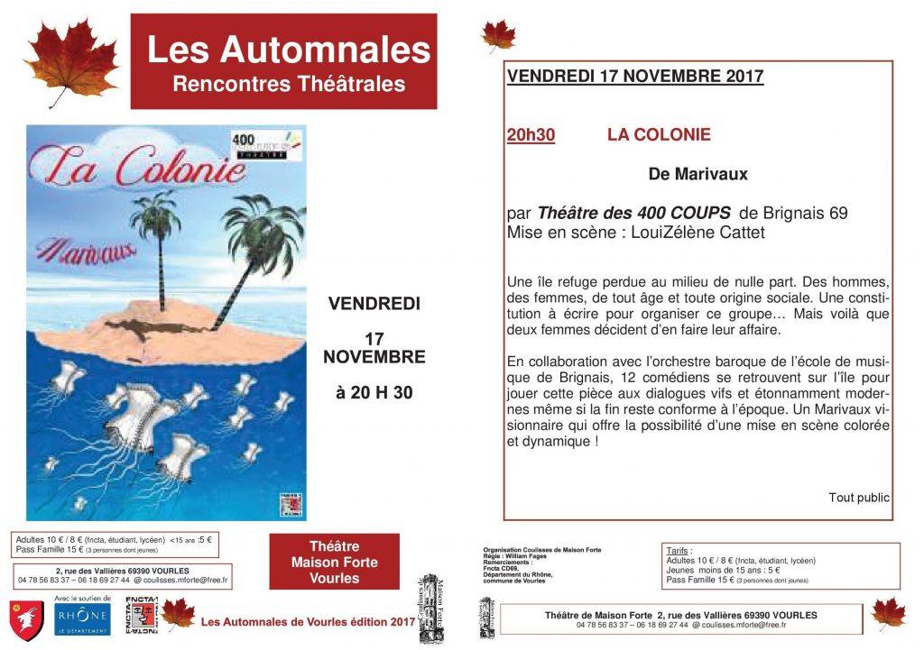 AUTOMNALES DE VOURLES La Colonie 10 11 17-B