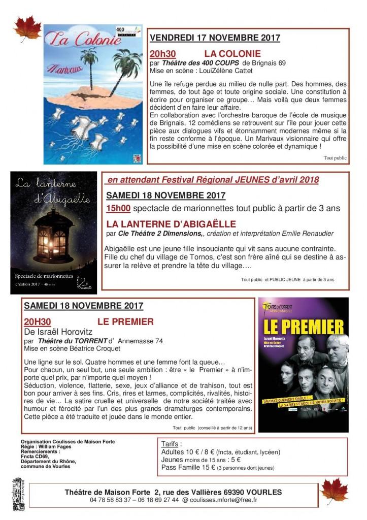 AUTOMNALES DE VOURLES Programme-2-1-au 10 11 17-B