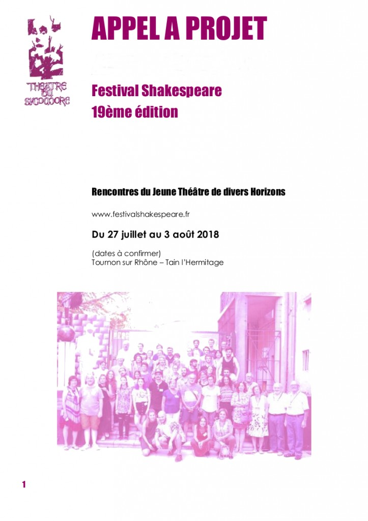 visuel - Festival Shakespeare 2018